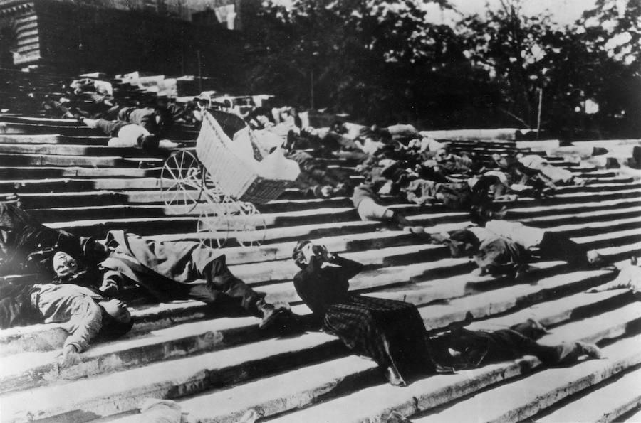 Escena de 'El acorazado Potemkin'.