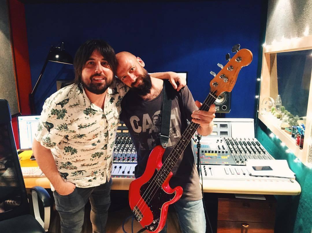 En el estudio con Juanlu Tormo, de Senior i El Cor Brutal