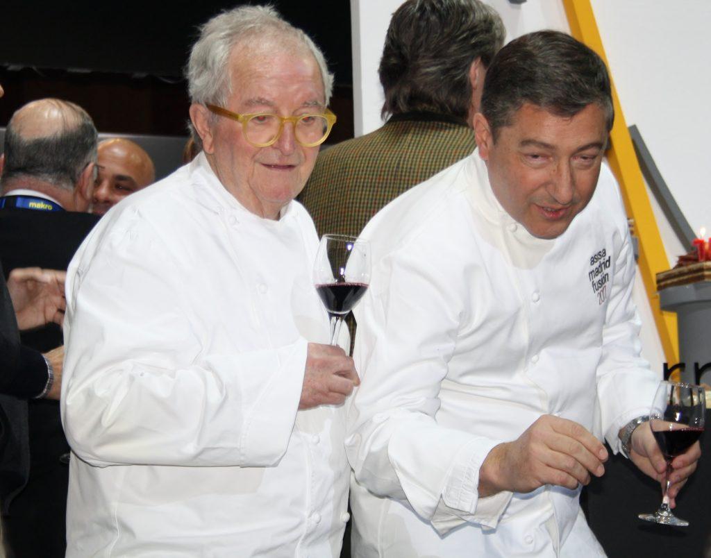 Joan Roca y Arzak en un momento de Madrid Fusión.