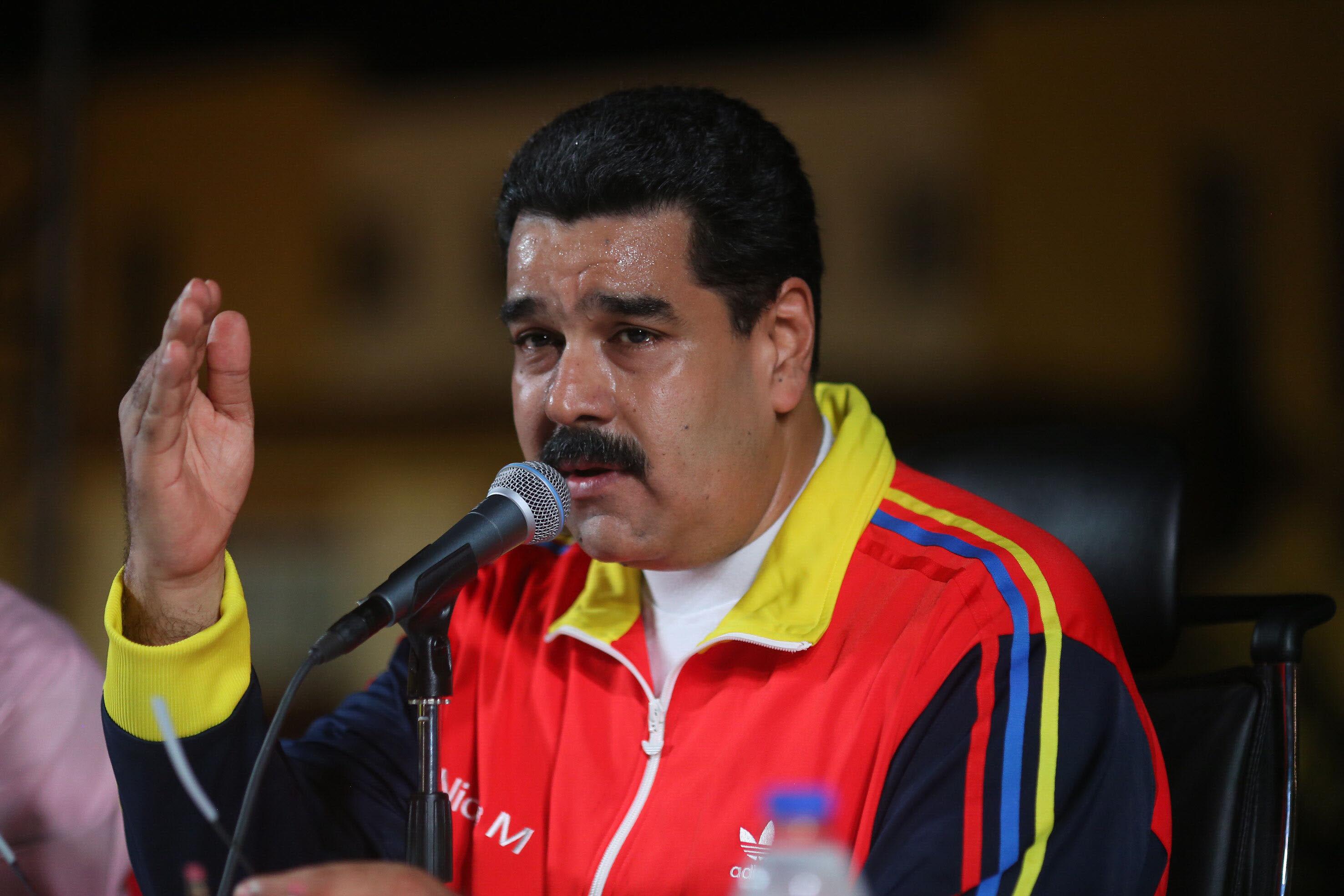 El presidente venezolano, Nicolás Maduro, en un acto electoral en Maracaibo, el pasado viernes. EFE